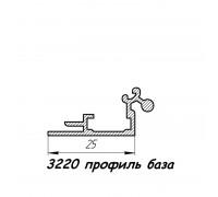 3220 профиль алюминиевый база, анод