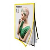 Двухстороння магнитная рамка для плаката А2 формата (вертикальная)